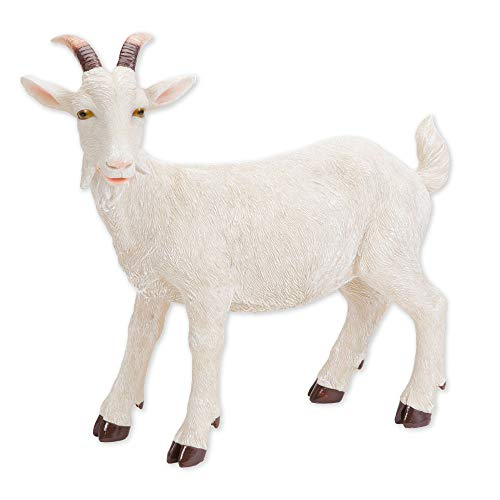 Bits and Pieces - Realistic Goat Statue - Lifelike Durable Resin Sculpture
