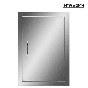 CO-Z Outdoor Kitchen Doors, Stainless Steel Single BBQ Access Door