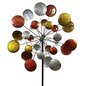 Jumbo Modern Art Kinetic Quadruple Wind Sculpture Spinner