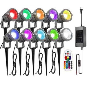 ZUCKEO Landscape Lights 6W RGB Remote Control LED Landscape Lighting