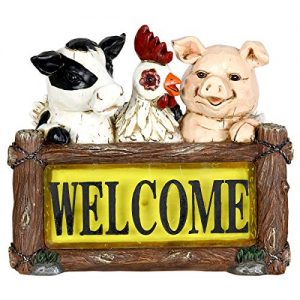 Exhart Solar Farm Animals Welcome Sign Garden Statue
