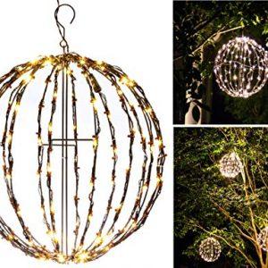 "Elf Logic - Outdoor LED 16"" Light Balls (3 Pack) Hanging Tree Globe Light"
