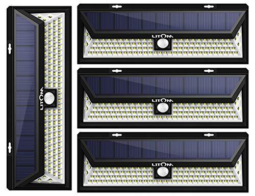 LITOM Enhanced 102 LED Super Bright Solar Lights Outdoor