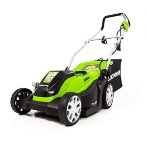 Greenworks 14-Inch 9 Amp Corded Electric Lawn Mower with Extra Blade