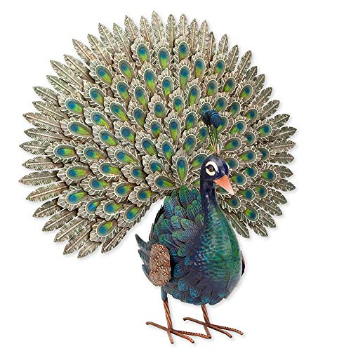 Bits and Pieces - Elegant Peacock Metal Garden Sculpture