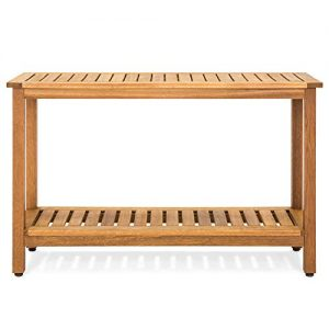 Best Choice Products 48-inch 2-Shelf Indoor Outdoor Multifunctional Eucalyptus