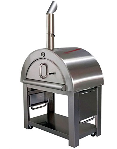 """44"""" Wood Fired Stainless Steel Artisan Pizza Oven or Grill"""
