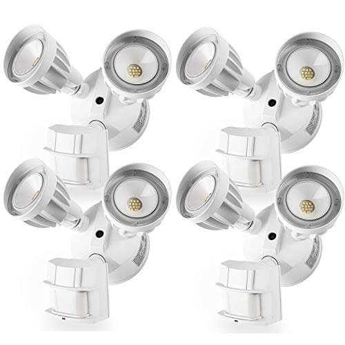 Amico 4 Pack LED Flood Light Outdoor Motion Sensor Light