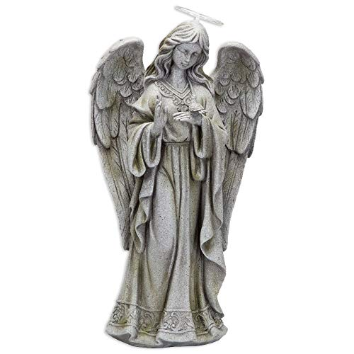 Bits and Pieces - Solar Garden LED Angel of Peace Statue