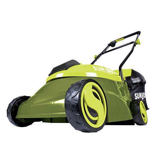 Sun Joe 14-Inch 28-Volt Cordless Push Lawn Mower, Green