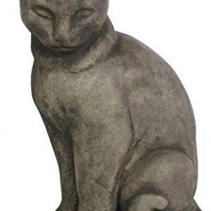 Big Siamese Concrete Cat Statue Large Cement Kitty Sculpture