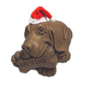 Massarelli's 'Life is Good' Basset Hound Puppy Dog with Holiday Hat