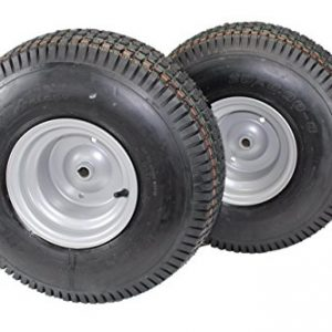 (Set of 2)Tires & Wheels 4 Ply for Lawn & Garden Mower Turf Tires
