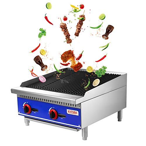 """Grill and 24"""" Natural Gas Countertop Charbroiler"""
