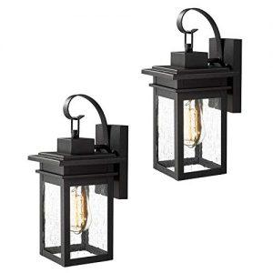 Zeyu 1-Light Outdoor Wall Light 2 Pack, Exterior Wall Sconce Light Fixtures