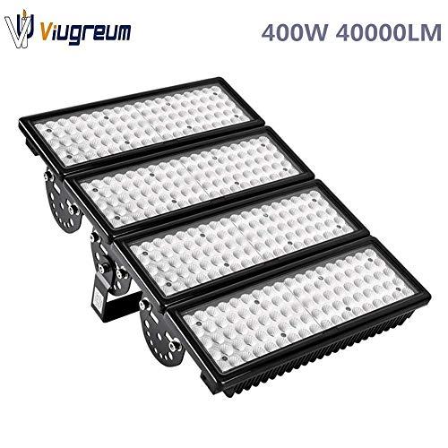 Viugreum 400W LED Flood Lights Outdoor, 40000 Lumen Daylight White