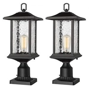 Beionxii Outdoor Post Lantern, 2-Pack Exterior Post Lights