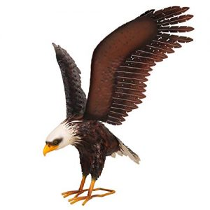 Kircust Metal Bald Eagle Garden Statue and Sculpture
