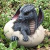Ebros Large Nightfury Baby Dragon Hatchling in Egg Statue
