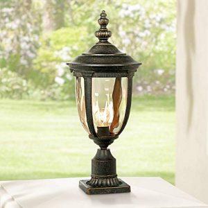 Bellagio Vintage Outdoor Post Light Bronze 25 inch Tall Fixture