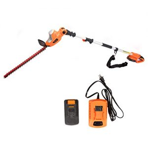 GARCARE 20V Li-ion Cordless Pole Hedge Trimmer