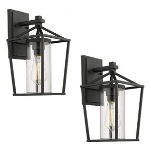 Emliviar Outdoor Porch Lights 2 Pack Wall Mount Light Fixtures