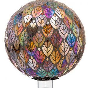 Evergreen Garden Baroque Splendor Mosaic Glass Gazing Ball