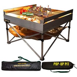 Pop-Up Fire Pit - Portable Outdoor Fire Pit and BBQ Grill