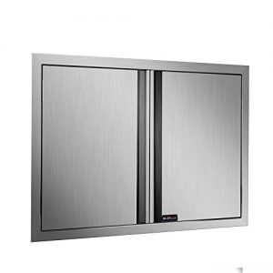 BI-DTOOL Double BBQ Access Door Brushed Stainless Steel