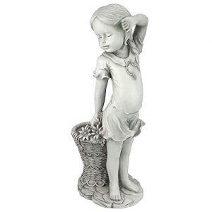 Design Toscano Frances The Flower Girl Outdoor Garden Statue