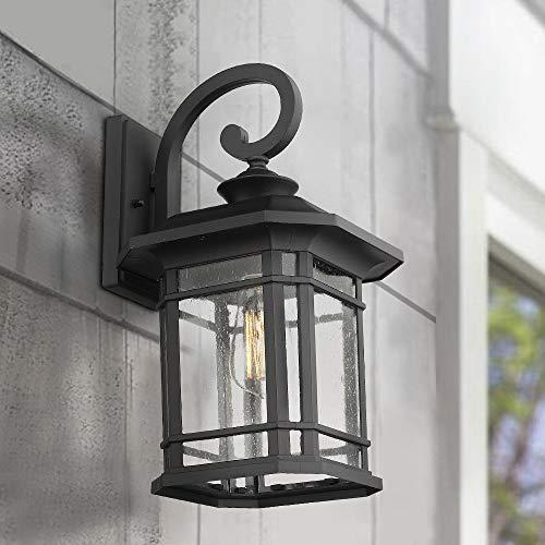 Emliviar Outdoor Wall Lights for House, 1-Light Exterior ... on Exterior Wall Sconce Light Fixtures id=94374