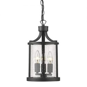 "Osimir 3 Light Exterior Pendant Lighting, 13"" Outdoor Hanging Lantern"