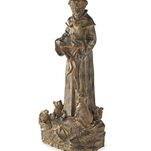 Wind & Weather Resin St. Francis Statue Garden Sculptures Indoor Outdoor
