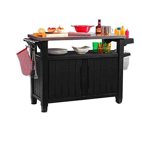 BBQ Prep Table Outdoor Portable Stainless Steel Top Grill