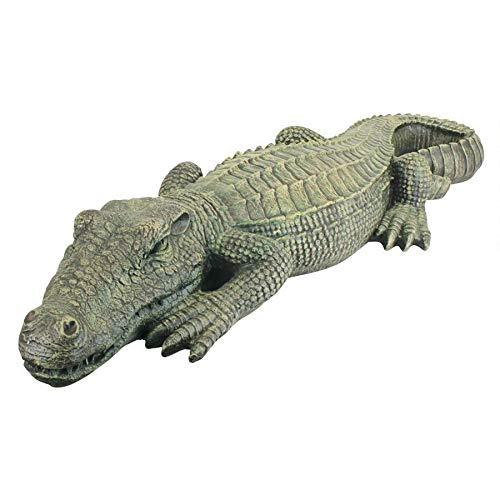 3 Ft Exotic Tropical Crocodile Alligator Home Garden Statue Sculpture