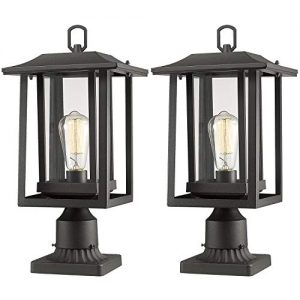 Beionxii Outdoor Post Light Fixture, 2-Pack Large Exterior Post Lantern