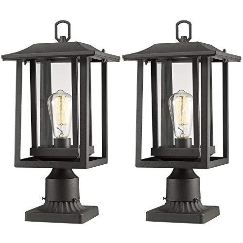 Beionxii Outdoor Post Light Fixture, 2-Pack Large Exterior Post Lantern