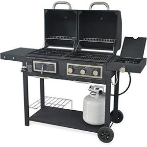 Durable Outdoor Barbeque & Burger Gas/charcoal Grill Combo Comes