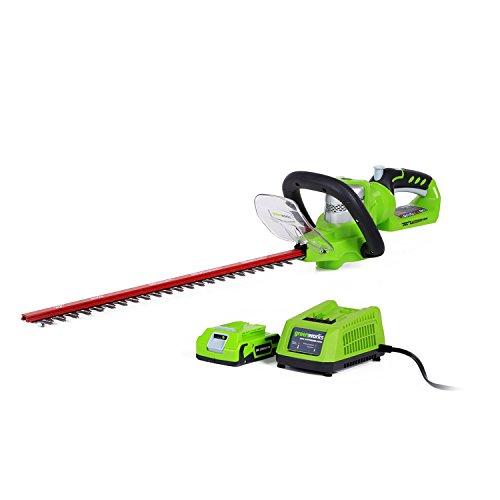Greenworks 22-Inch 24V Cordless Hedge Trimmer