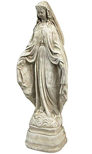 Solid Rock Stoneworks Virgin Mary Stone Garden Statue