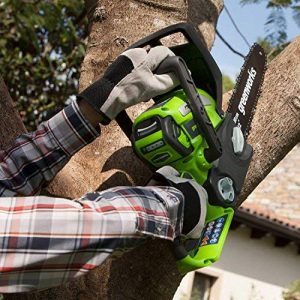 Greenworks 12-Inch 40V Chainsaw, 2.0 Battery & Charger Included