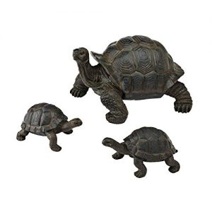 New Creative Evergreen Garden Tortoise and Babies Polystone Outdoor