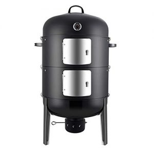 Realcook Charcoal BBQ Smoker Grill - 20 Inch Vertical Smoker