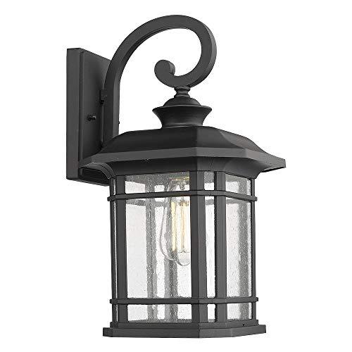 Emliviar Outdoor Wall Lights for House, 1-Light Exterior Wall Sconce Black