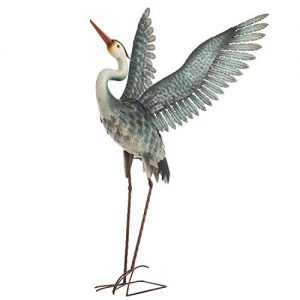 Chisheen Metal Heron Garden Statue and Sculpture Outdoor