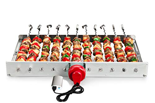 HAOONE Portable Battery Operated Automatic BBQ Grill Rotisserie