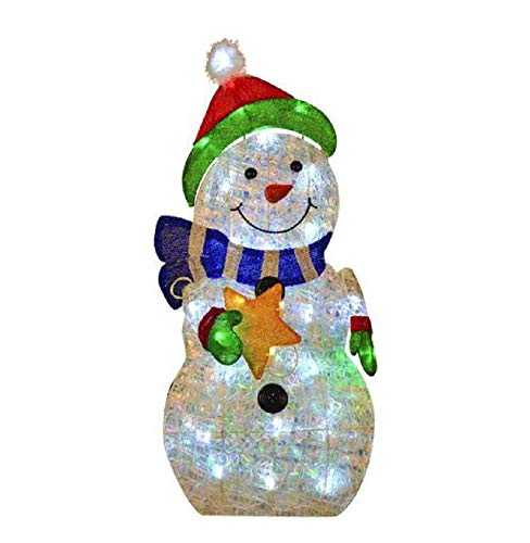 Home Collection Outdoor Christmas Decoration 30 Inch Lighted Snowman