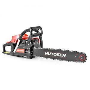 HUYOSEN Gas Power Chain Saws Corded 54.6 CC 2 Cycle Gas Powered Chainsaw