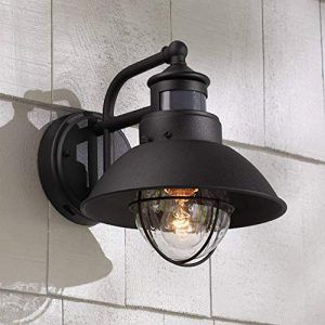 Oberlin Rustic Outdoor Wall Light Black Exterior Fixture Motion Security