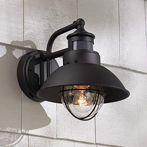 Oberlin Rustic Outdoor Wall Light Black Exterior Fixture Motion Security